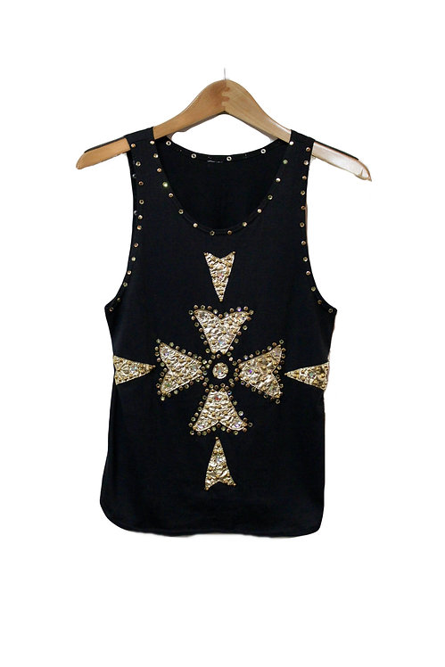 90s Embellished Bedazzled Tank Top - S