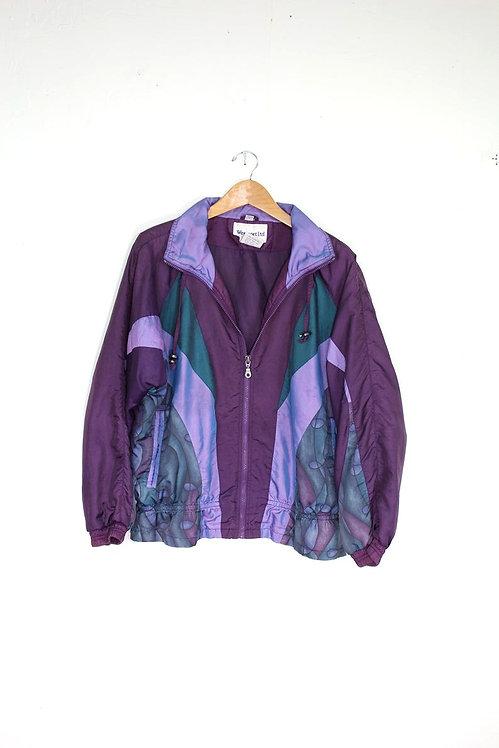 90s Color Block Holographic Windbreaker - S/M