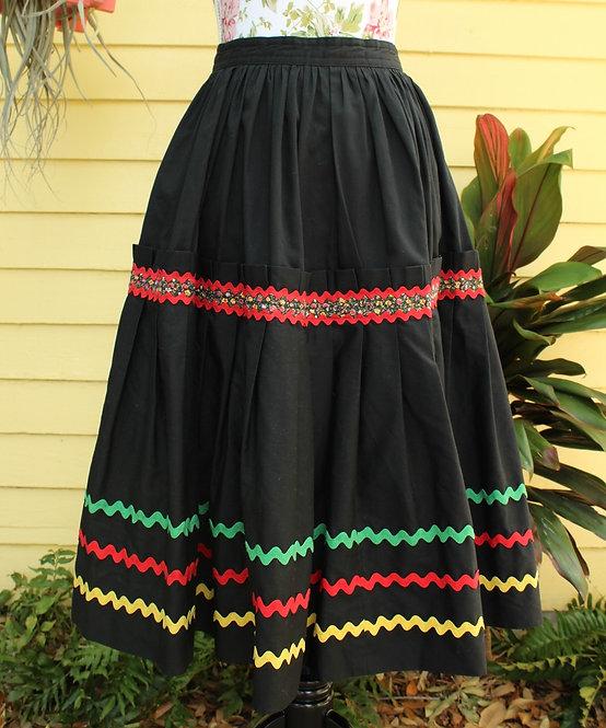 Vintage Caribbean Costume Skirt