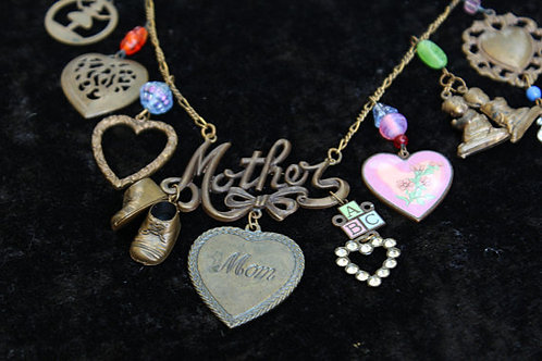 90s Mother's Charm Necklace