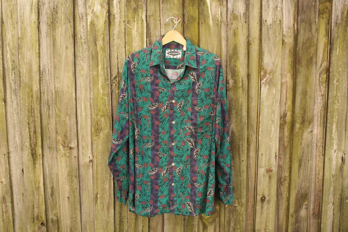 Super 90s Contrasting Button Up - XL