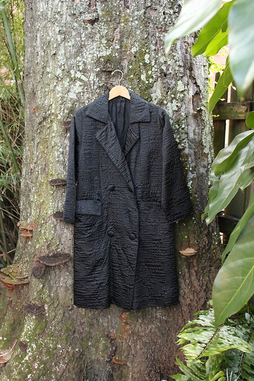 60s Silk Raincoat w/Special Feature