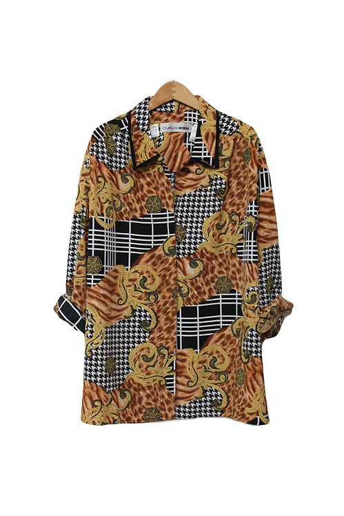 90s Versace-Inspired Button Up - XL/XXL+