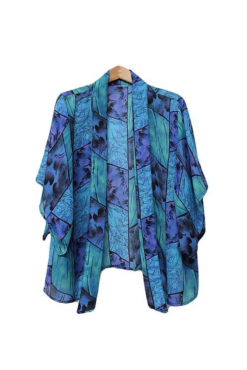 90s Sheer Kimono Cardigan - OSFM