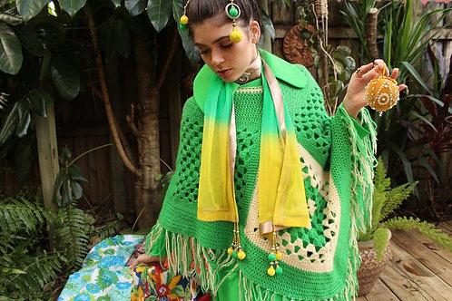 Embellished Sheer Indian Scarf