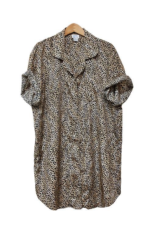 90s Leopard Print Sleep Shirt - XL/XXL