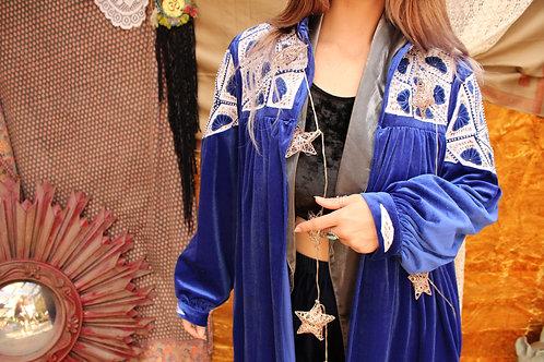 Upcycled Vintage Beaded Velvet Robe