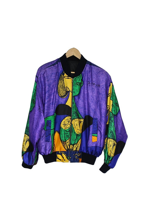 90s Picasso Silky Track Jacket - M/L/XL