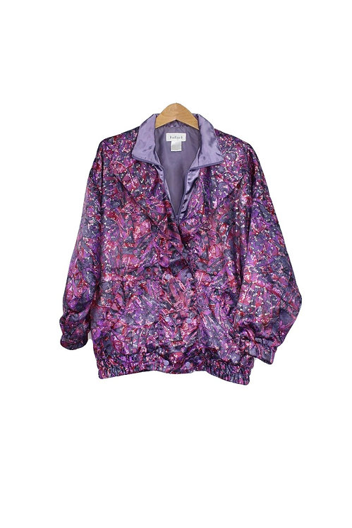 90s Abstract Silky Track Jacket - M/L/XL