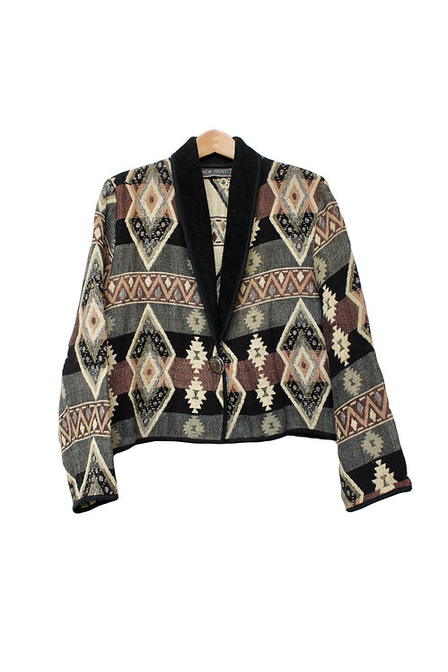 90s Cropped Southwestern Style Jacket - L/XL/XXL