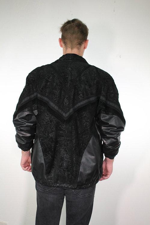 90s Embellished Leather Jacket - M/L