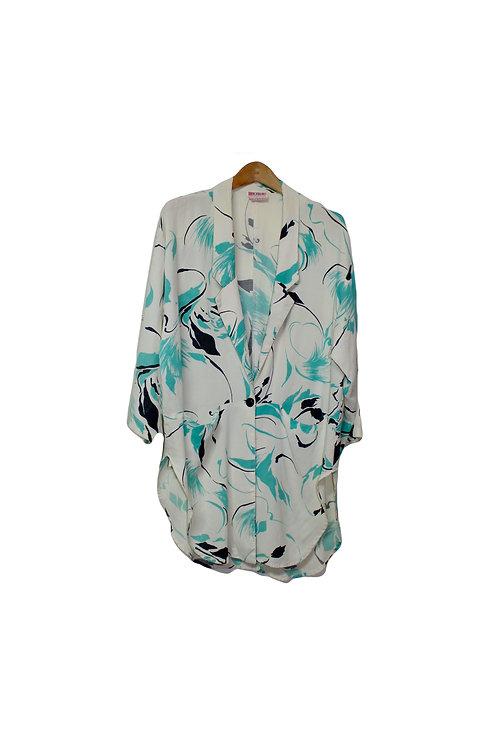 80s Abstract Blazer-Style Cardigan - L/XL/XXL