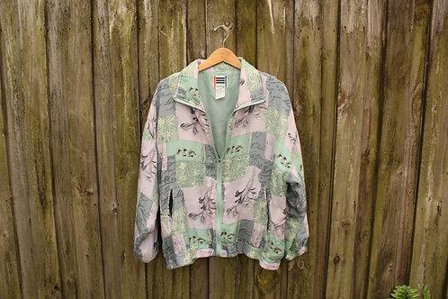 90s Pastel Silk Track Jacket - L-XXL