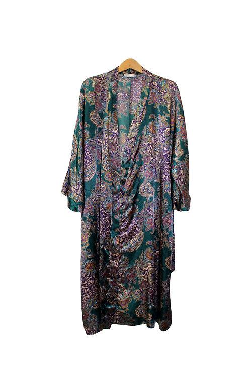 90s Super Silky Paisley Robe - L/XL/XXL