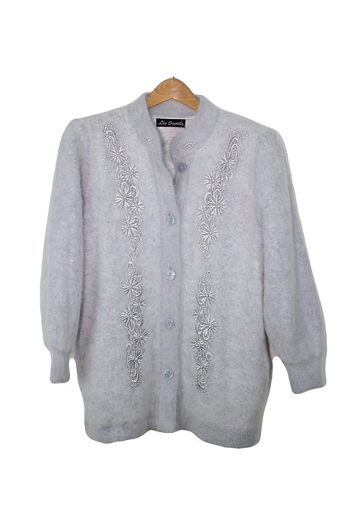 90s Embellished Angora Sweater - XL+