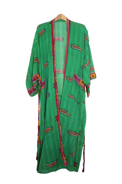 90s Sheer Boho Paisley Robe - Plus Size