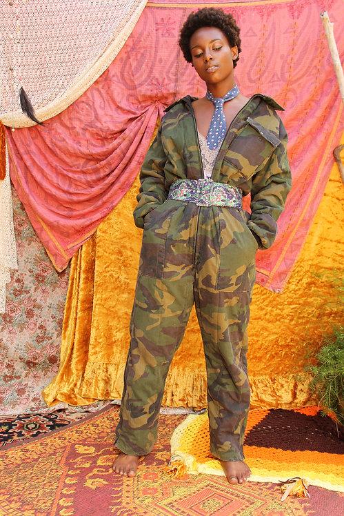 90s Camouflage Jumpsuit