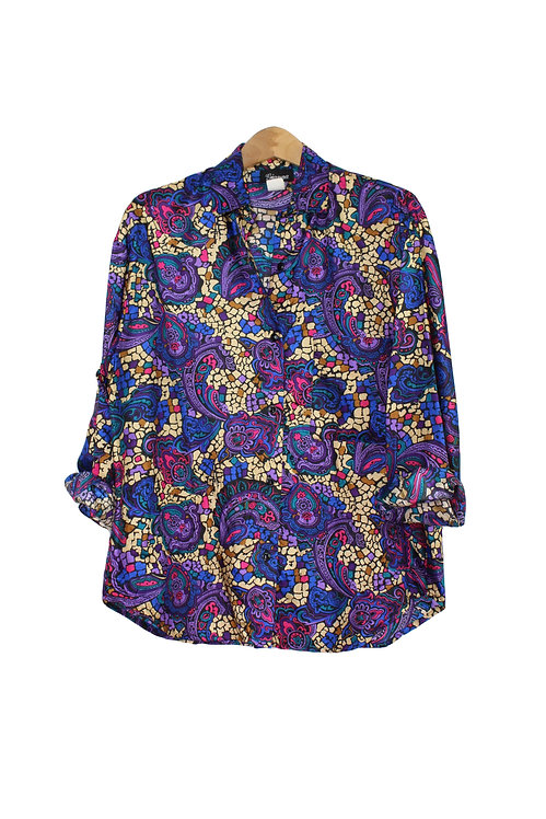 90s Abstract Paisley Button Up - M/XL/XXL