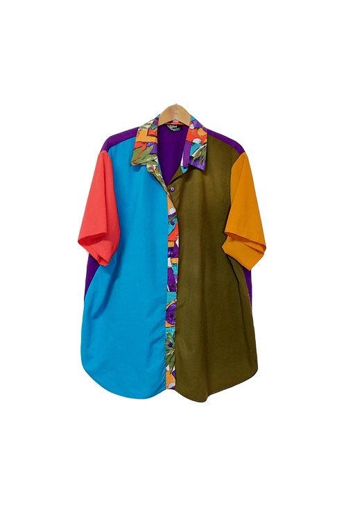 90s Color Block Dad Shirt - XXL+
