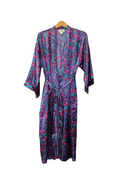 90s Silky Paisley Robe - S/M/L/XL