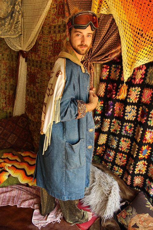 Handmade Upcycled Embellished Wanderlust Coat