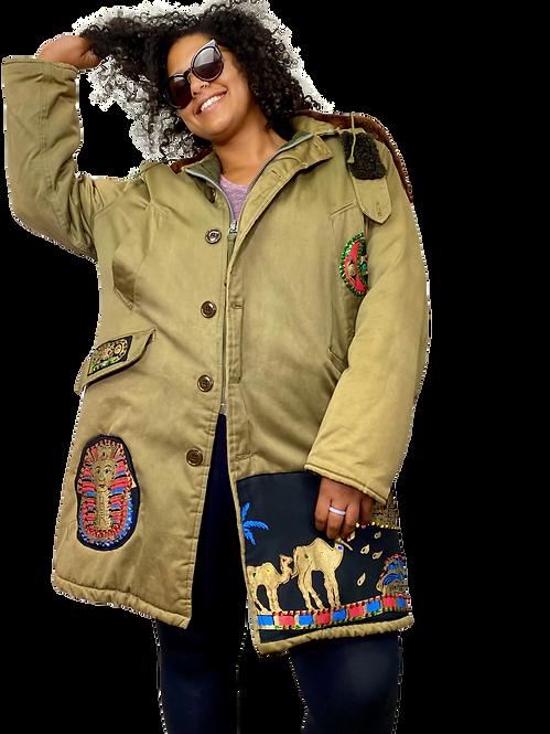 Custom Upcycled Egyptian Applique Coat