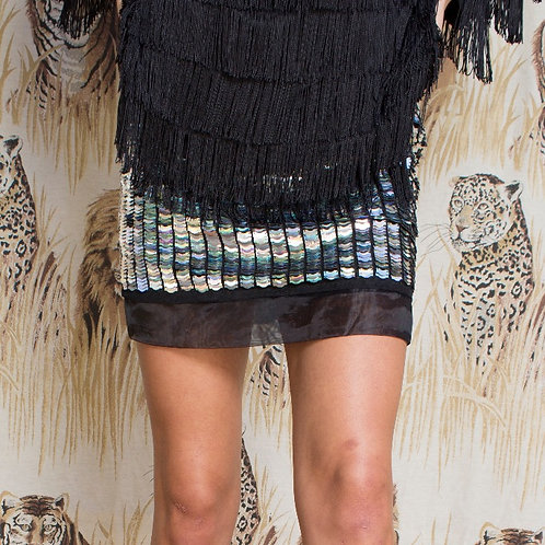 TopShop Silver Sequin Skirt - NWT