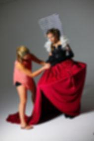 Marissa Baker styling a fantasy/costume shoot