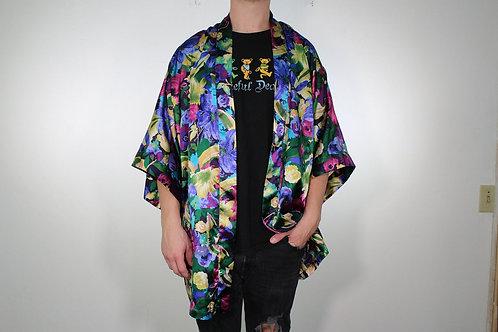 80s Floral Victoria's Secret Kimono - L/XL