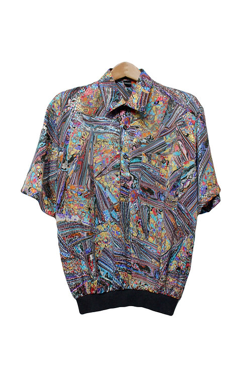 70s Psychedelic Polo Shirt - S/M