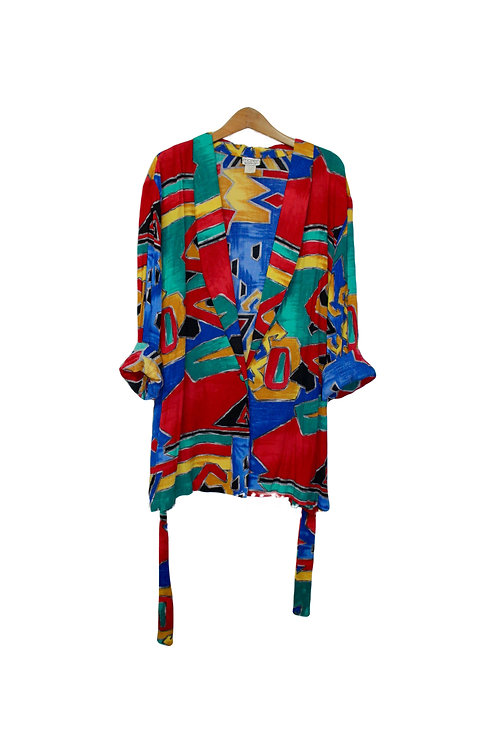 90s Abstract Blazer Cardigan - XXL+