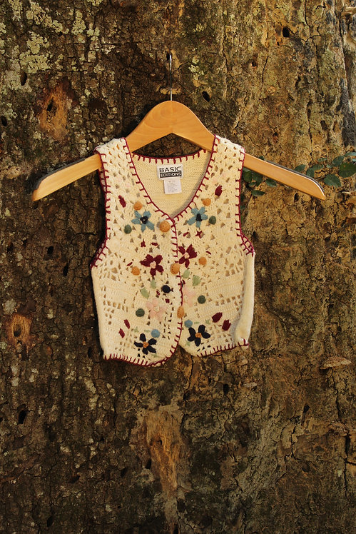 Vintage Unisex Kids Knit Vest