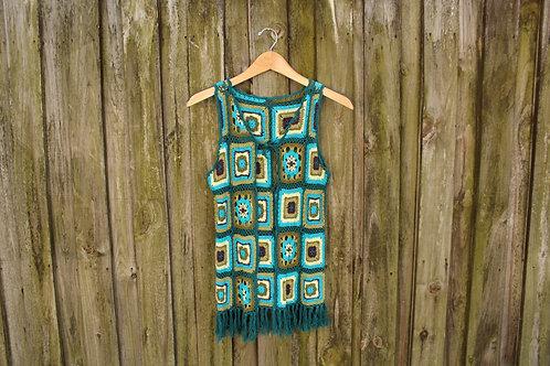 Vintage Crochet Hippie Vest - XS/S