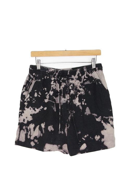 90s Bleach Dye Drawstring Shorts - S/M+