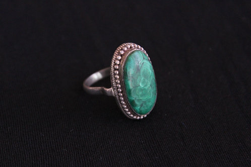 Men's Native American Malachite Ring