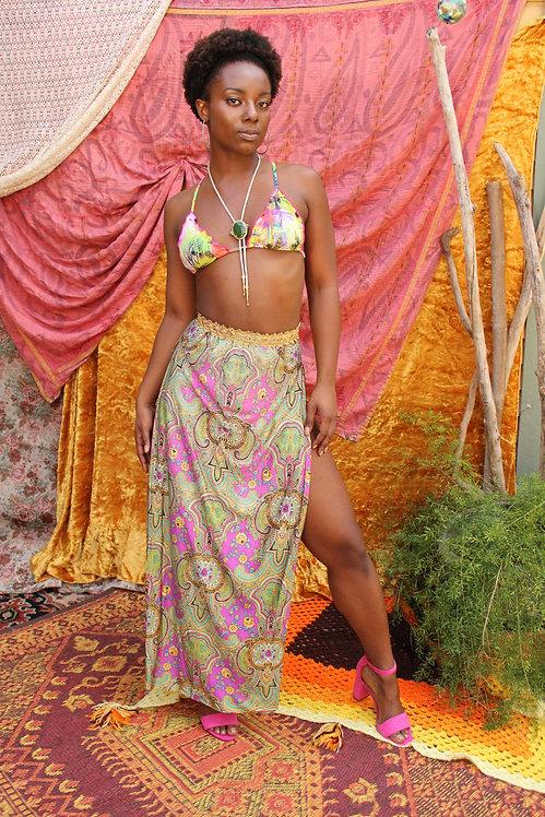 Upcycled Indian Paisley Skirt
