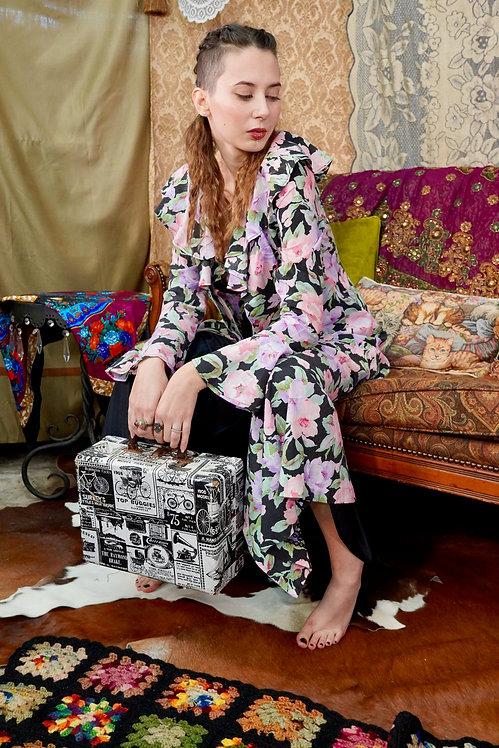 Handmade Vintage Floral Duster Dress - S/M
