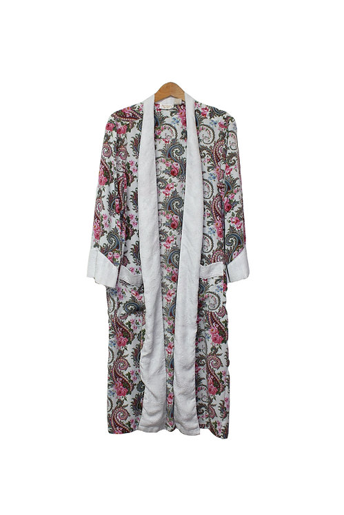 90s VS Paisley Floral Robe - S/M/L