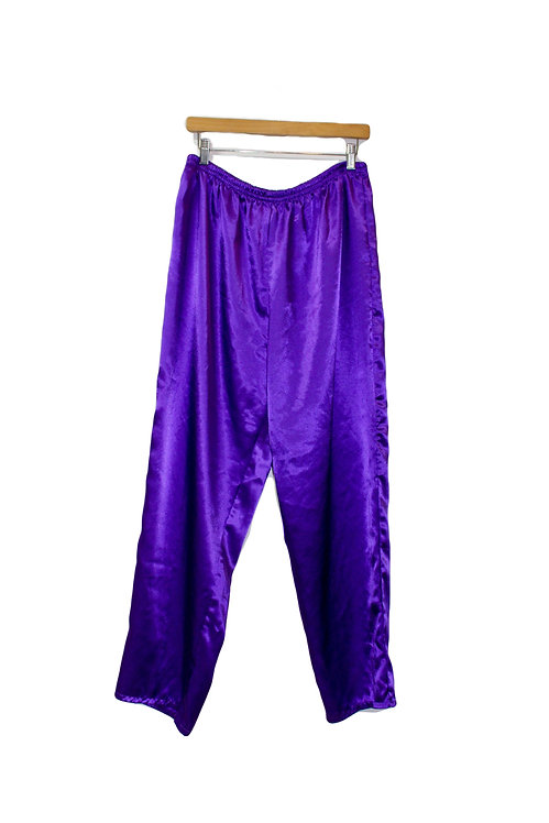 Silky Purple Lounge Pants - L/XL