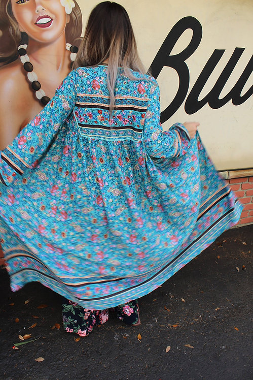 Upcycled Bohemian Duster Robe
