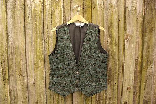 90s Trippy Tapestry Vest - L/XL