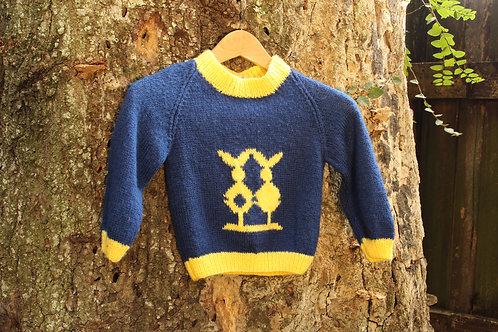 Vintage 80s Unisex Kids Knit Sweater