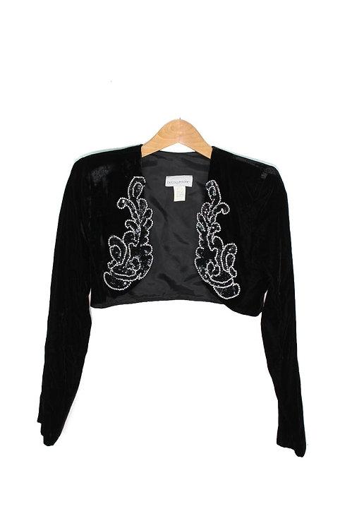 90s Embellished Velvet Bolero Jacket - S/M