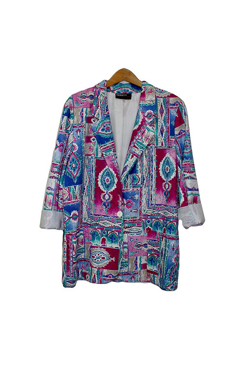 90s Colorful Abstract Blazer - M/L/XL