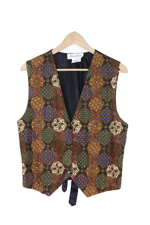 90s Beaded Kaleidoscope Vest - S/M