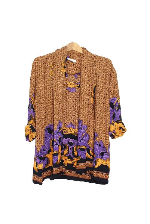 90s Designer-Inspired Cardigan -L/XL+