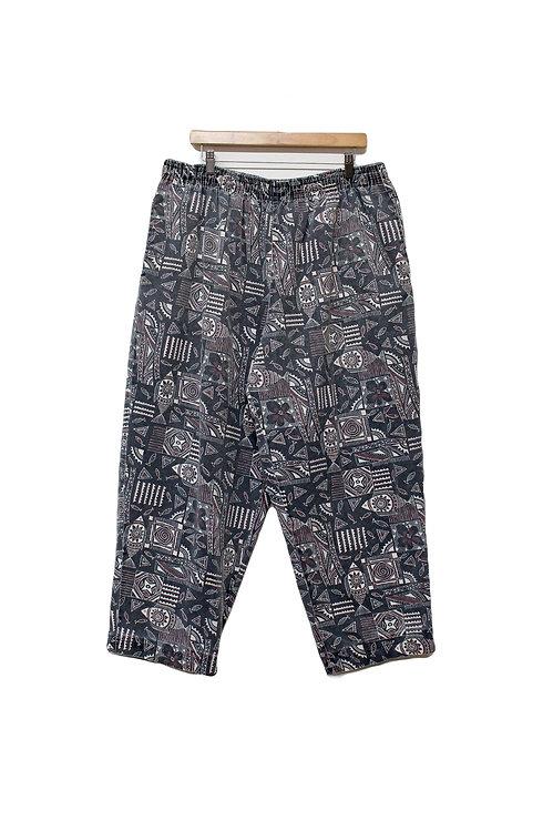 90s Hawaiian Print Chef Pants - XL
