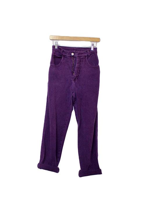 90s Purple High Waisted Jeans - 24/25