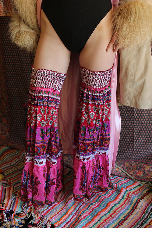 Upcycled Boho Bell Bottom Leg Warmers