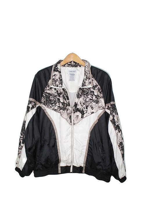 90s Abstract Floral Track Jacket - XL+
